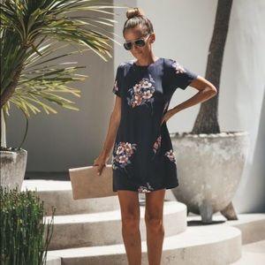Vici floral gray shift dress